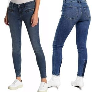 Free People Jet Low Rise Skinny Cropped Jeans 26